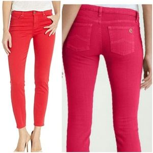 Michael kors red ankle skinny jeans.